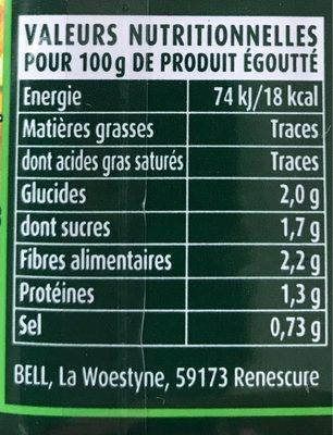 Cassegrain haricot beurre - Informations nutritionnelles
