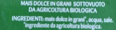 Maïs Bio sans sucres ajoutés - Ingredienti - it