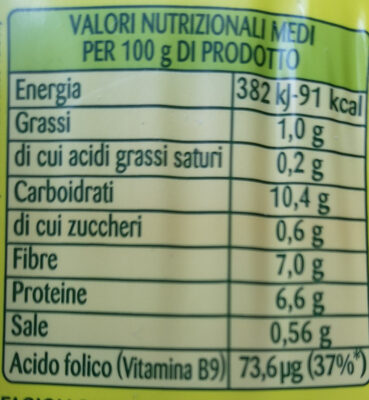 Cannellini - Informations nutritionnelles - it