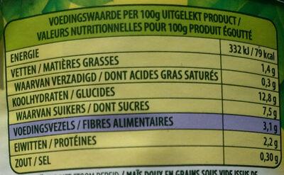 Crispy Maïs Bio - Nutrition facts - fr