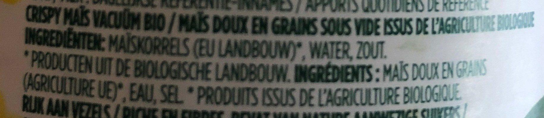 Maizbio - Ingredients - fr