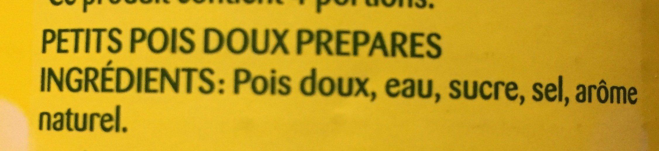 Vapeur Pois Doux Bonduelle - Ingrédients
