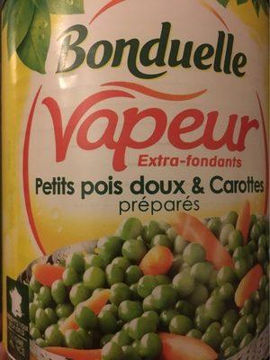 Petits pois doux carottes, préparés (Vapeur) - Produit
