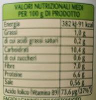 fagioli cannellini al vapore - Nutrition facts - it