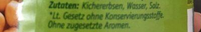 Kicher Erbsen - Składniki - fr