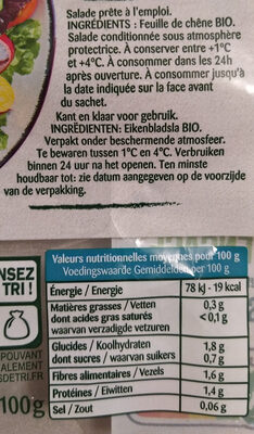 Feuille de Chêne Bio - Ingredientes - fr