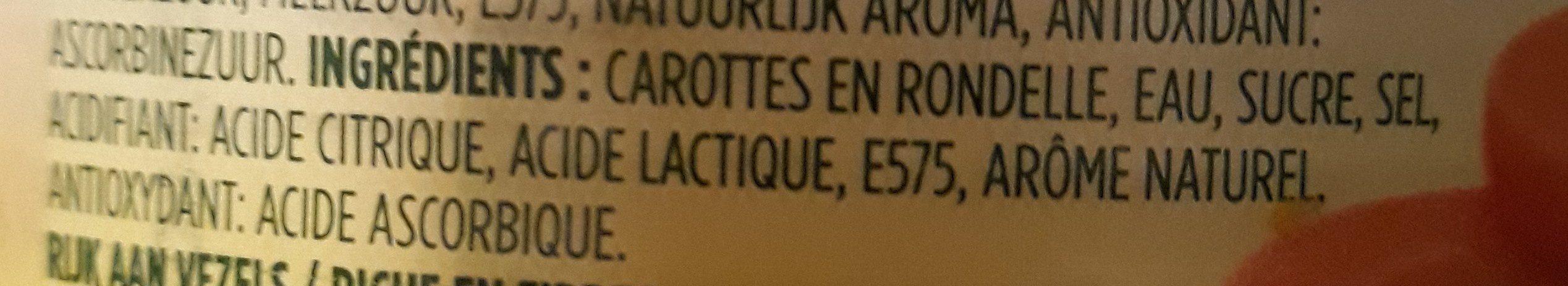 carottes rondelles - Ingrédients - fr