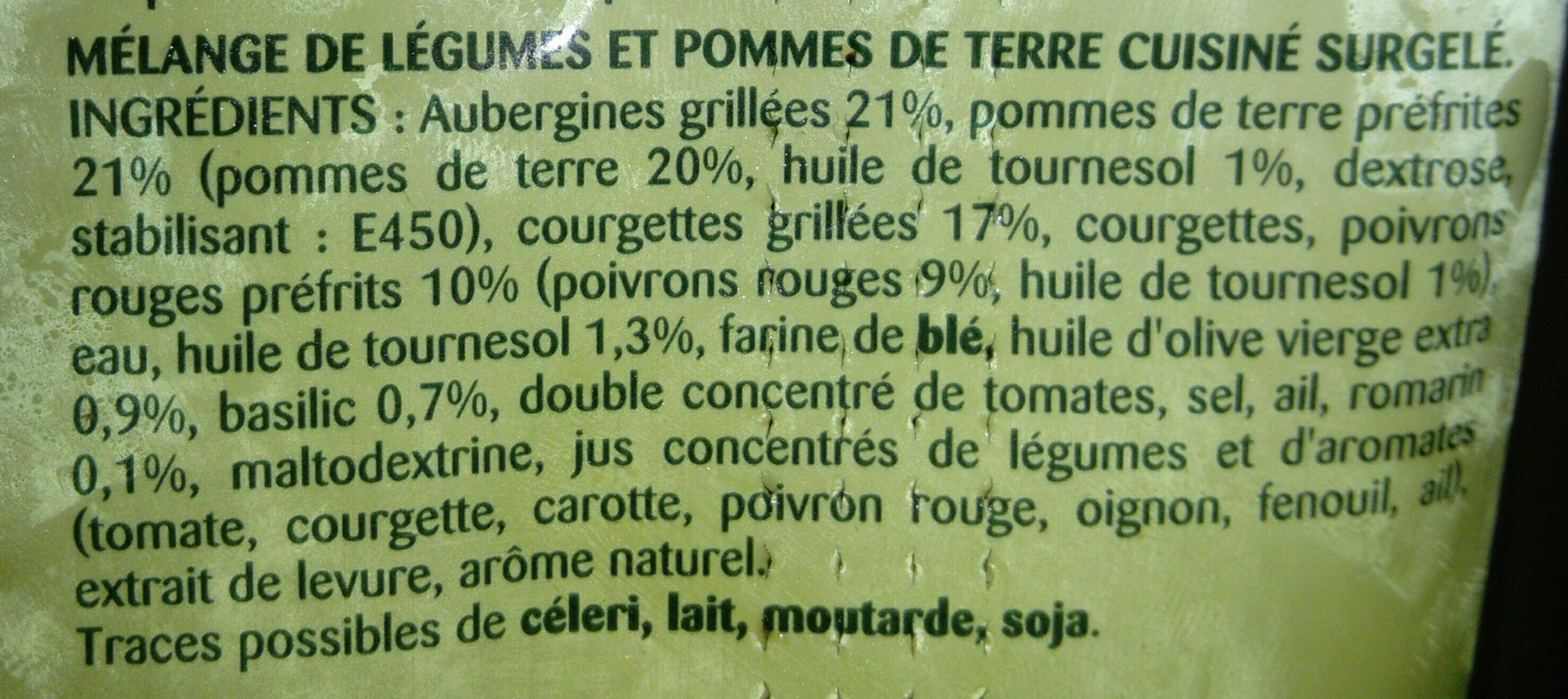 Poelée Méditérranéenne - Ingrediënten - fr