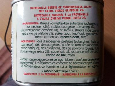 Ratatouille Bonduelle - Ingrediënten
