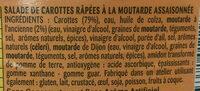 Carottes râpées - Ingrediënten - fr