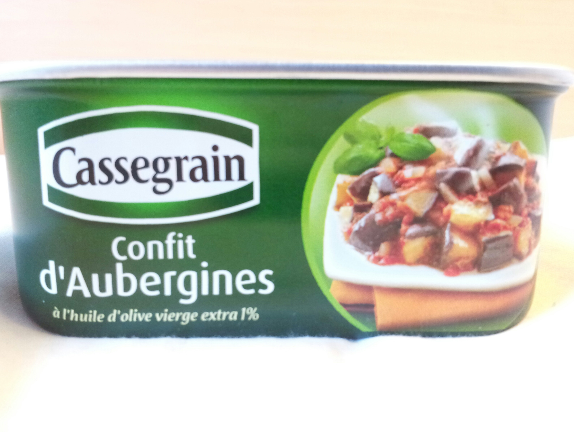 confit d 39 aubergine cassegrain 185g. Black Bedroom Furniture Sets. Home Design Ideas