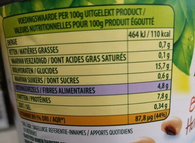 Bonduelle Tiger Bohnen, 265 g - Voedingswaarden - de