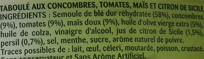 Taboulé - Ingredients - fr