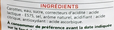 Carottes en rondelles - Ingrédients - fr