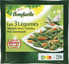 Les 3 Légumes Précuit Vapeur haricots verts, carottes et pois gourmands - Produit