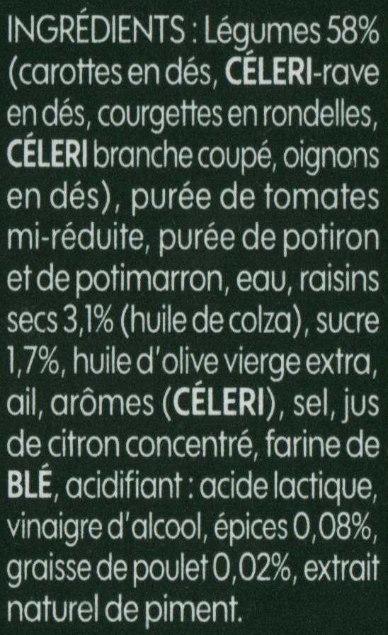 Légumes compotés pour couscous - Ingrédients - fr