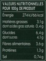 Légumes compotés pour couscous - Informations nutritionnelles - fr