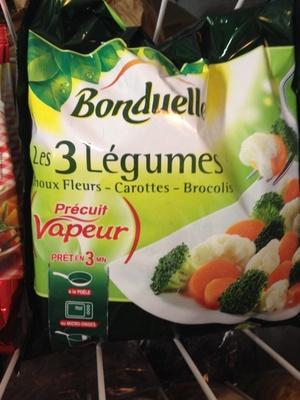 Les 3 Légumes (Choux Fleurs - Carottes - Brocolis) - Produit