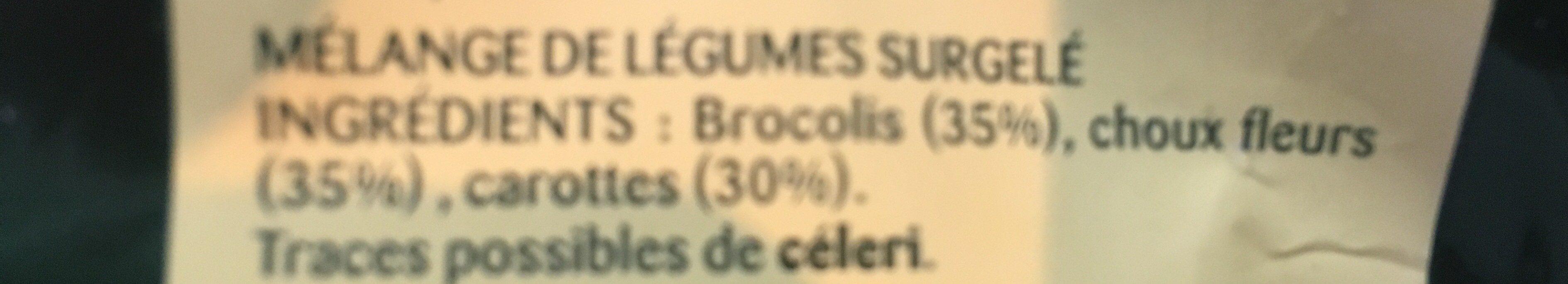 Les 3 Légumes (Choux Fleurs - Carottes - Brocolis) - Ingrédients - fr