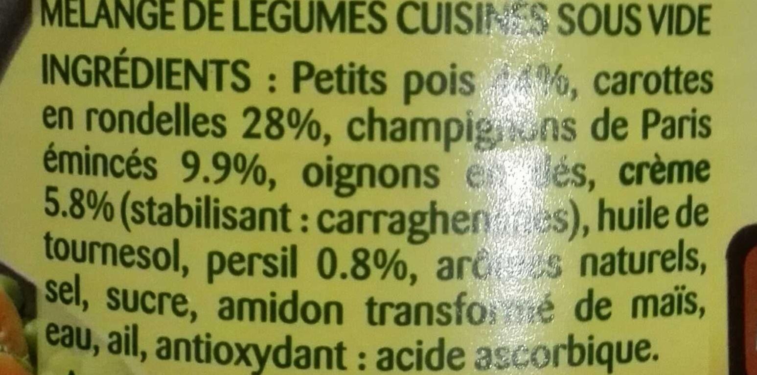 La Champêtre - petits pois - champignons de Paris - carottes - Ingredients - fr