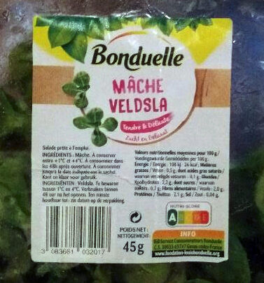Mâche - Voedingswaarden - nl
