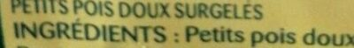 Le Petit Pois Extra fondant - Ingredienti - fr