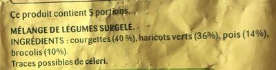 Legumes potage Bonduelle - Ingrediënten