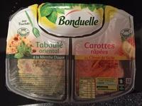 Duo de carottes râpées au citron de Sicile et taboulé oriental à la menthe douce - Product