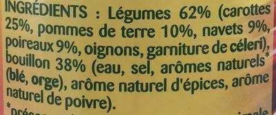 Légumes Façon Pot-au-Feu - Ingrediënten