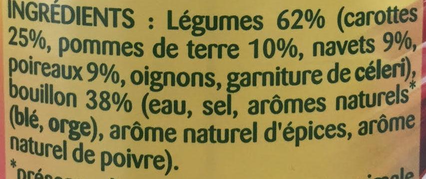 Légumes Façon Pot-au-Feu - Ingredientes - fr