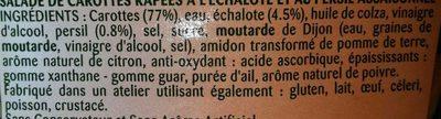 Carottes Râpées à l'Echalote et au Persil - Ingrediënten - fr
