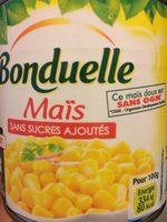 Maïs sans sucres ajoutés - Produit - fr