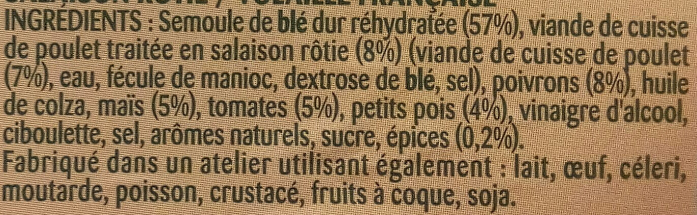 Taboulé Poulet Rôti - Ingrediënten