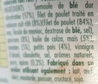 Taboulé au poulet rôti - Ingredients - fr