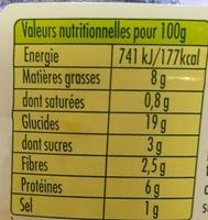 Taboulé au poulet rôti - Nutrition facts - fr