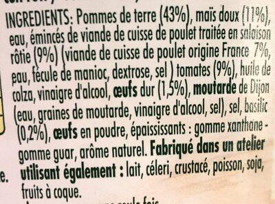 Piémontaise au poulet Rôti - Ingrédients - fr