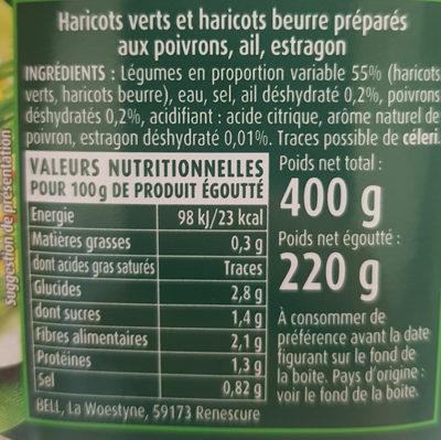Haricots verts et haricots beurre - Ingrediënten