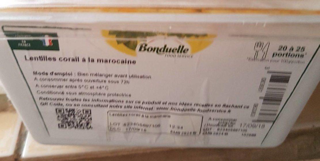 Lentilles Corail à la Marocaine - Product - fr