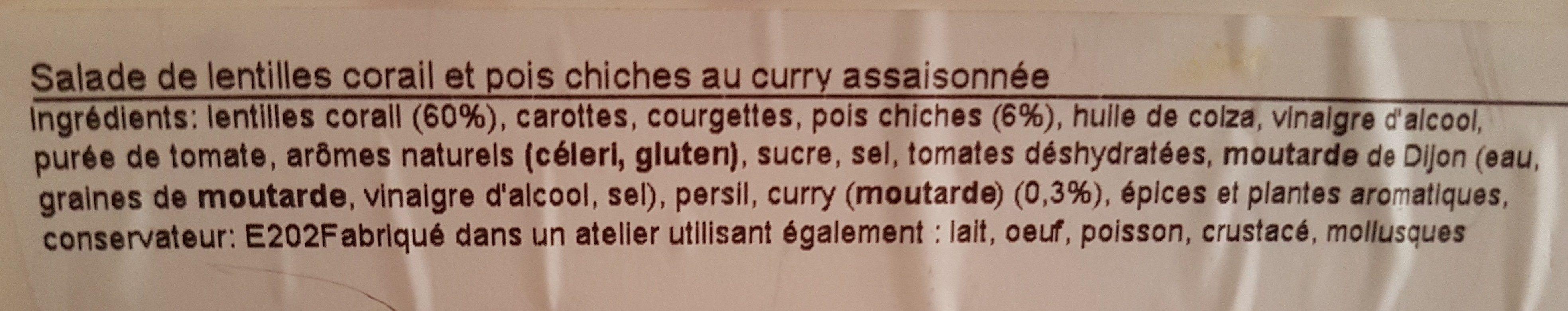 Lentilles Corail à la Marocaine - Ingrediënten - fr