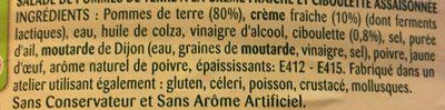 Pommes de terre à la crème et ciboulette - Ingrédients