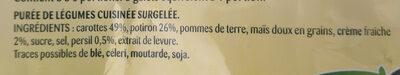 Purée Délice - Carottes, Potiron, Crème - Si Douce - Ingredients - fr