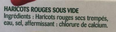 Touche de haricots rouges - Ingrédients