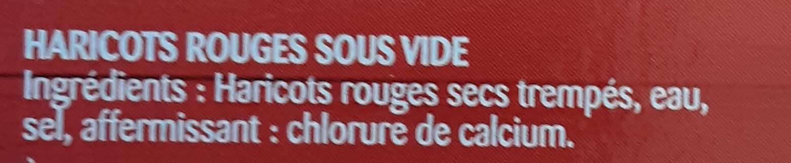 Touche de haricots rouges - Ingrédients - fr