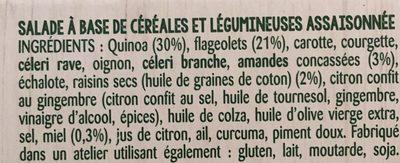 Les idees legumeuses quinoa haricots blancs - Ingrediënten