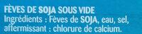 Il tuo tocco di soia edamame - Ingrédients - fr