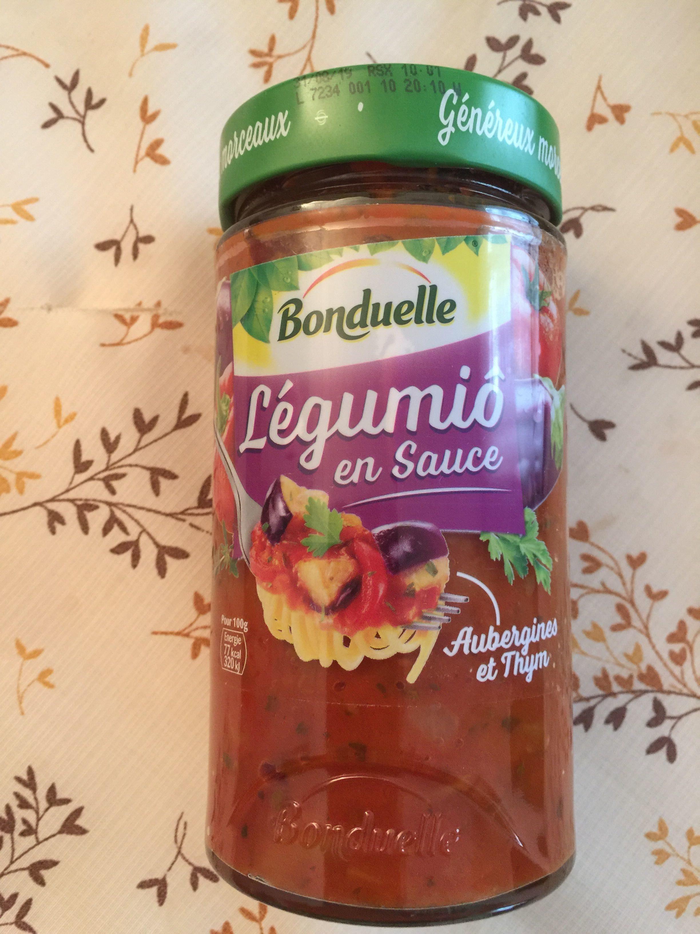 Aubergines et thym en sauce - Produit - fr