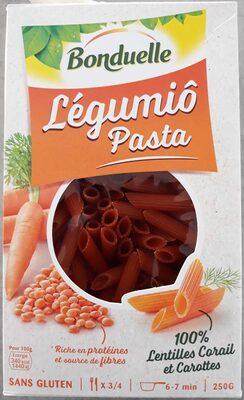 Légumiô Pasta Lentilles Corail et Carottes - Producte - fr