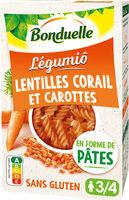 Légumiô - Pâtes de Lentilles Corail et Carottes - Product - fr