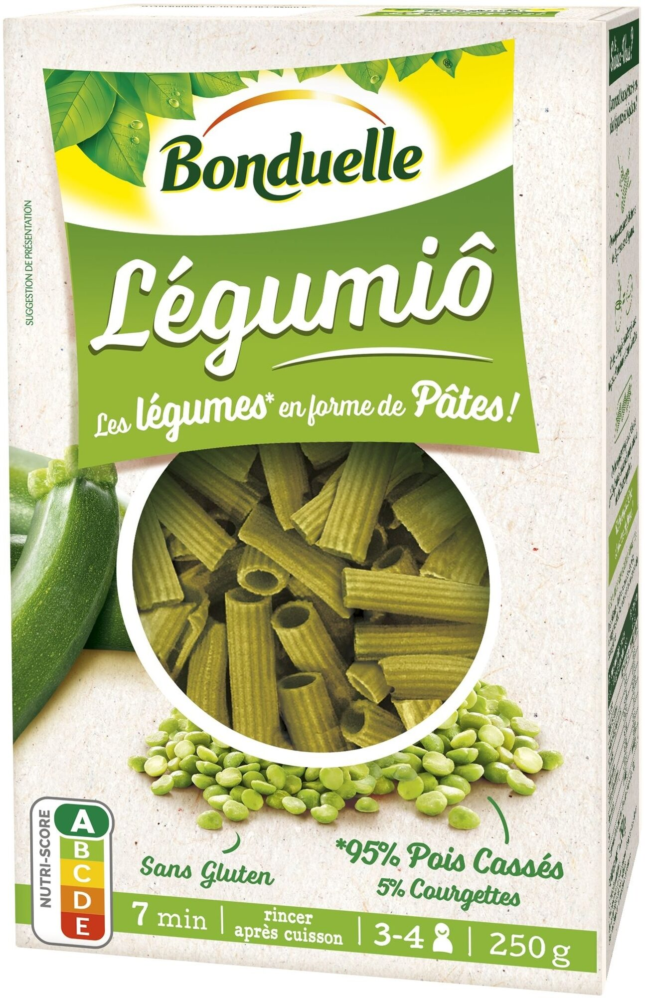 Légumiô - Pois Cassés et Courgettes en Rigatoni - Produit - fr