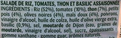 Riz à la provençale au Thon et Basilic - Ingredients